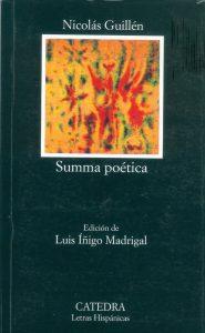 Libro Summa poética, de Nicolás Guillén, en editorial Cátedra